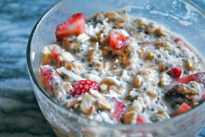 overnight oats strawberry