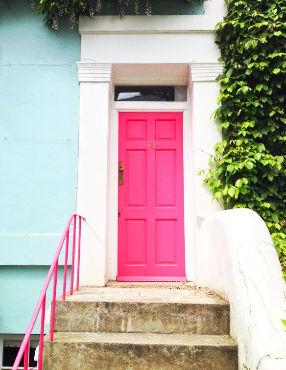 pink door and ivy