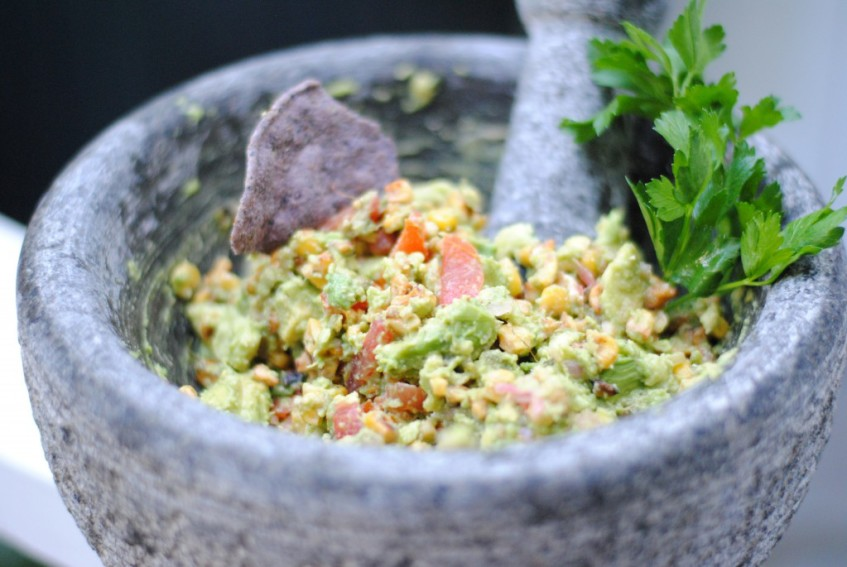 Corn and Cojita Guacamole