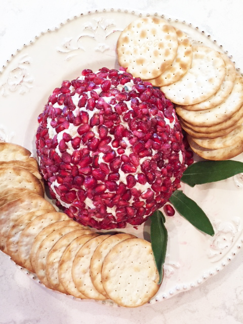 Pomegranate White Cheddar Cheese Ball