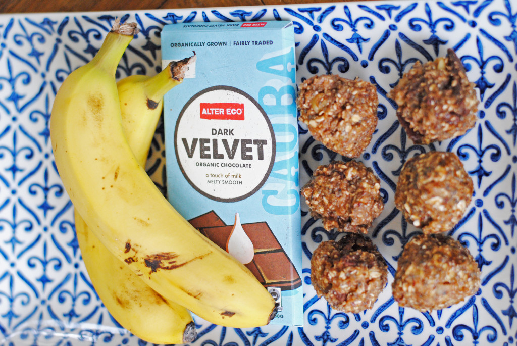 Banana Chocolate energy balls