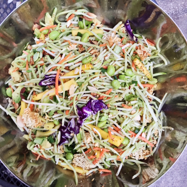 Crunchy Asian Noodle Salad - Turquoise and Teale