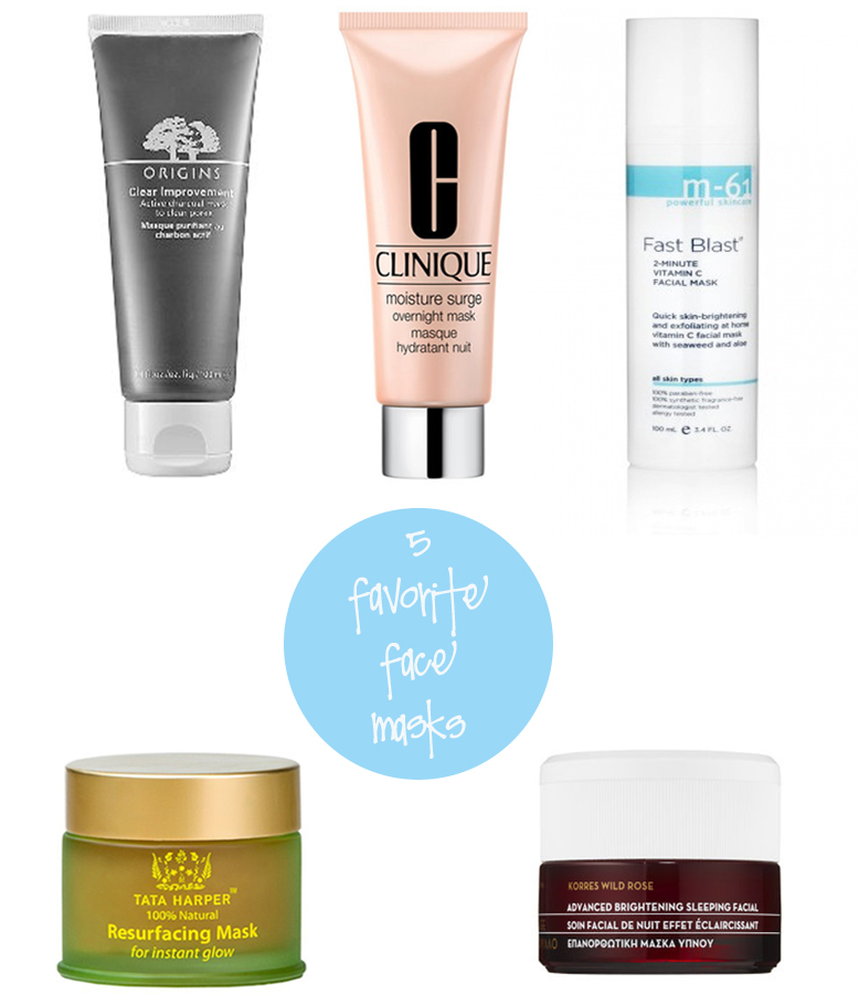 Five Favorite Face Masks