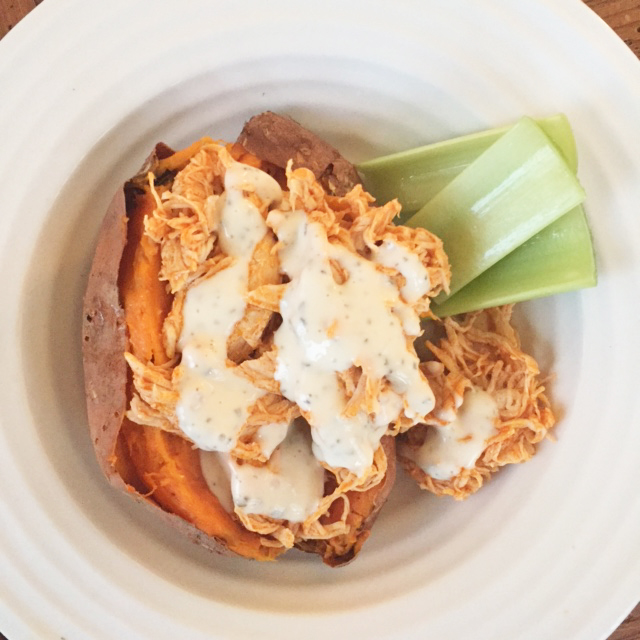 Skinny Buffalo Chicken Potato Skins Recipe — Dishmaps