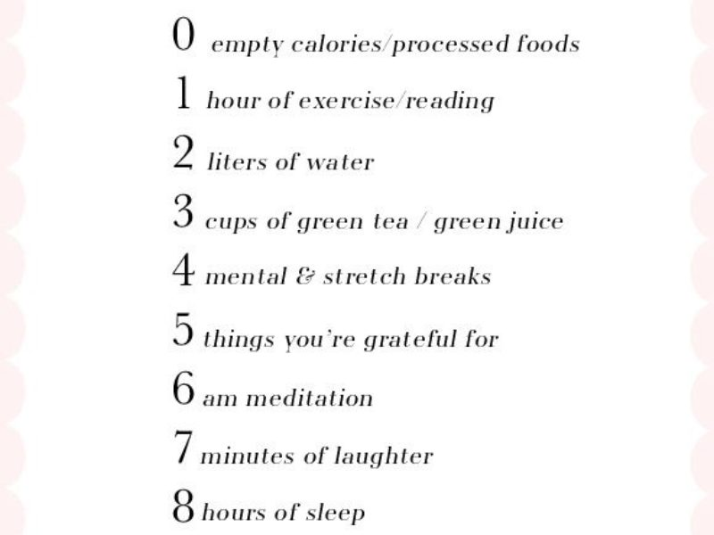 tips to live better