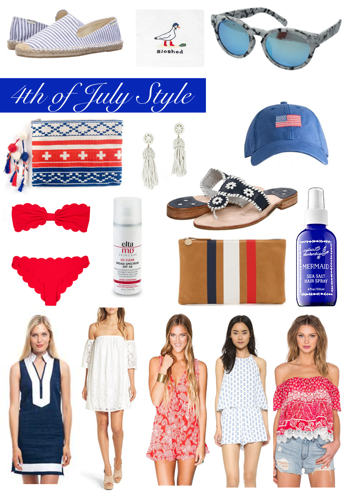 4th of July Packing List