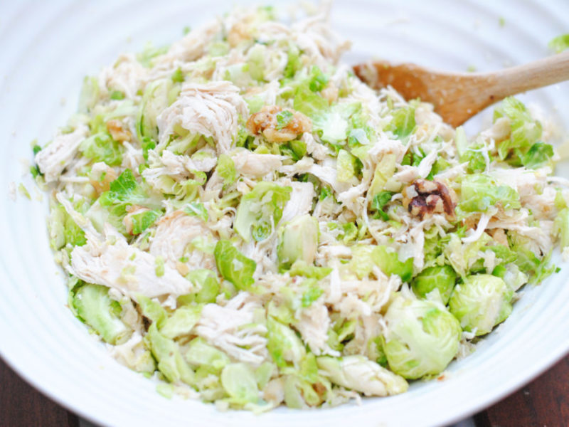 Chopped Brussels Sprouts Salad