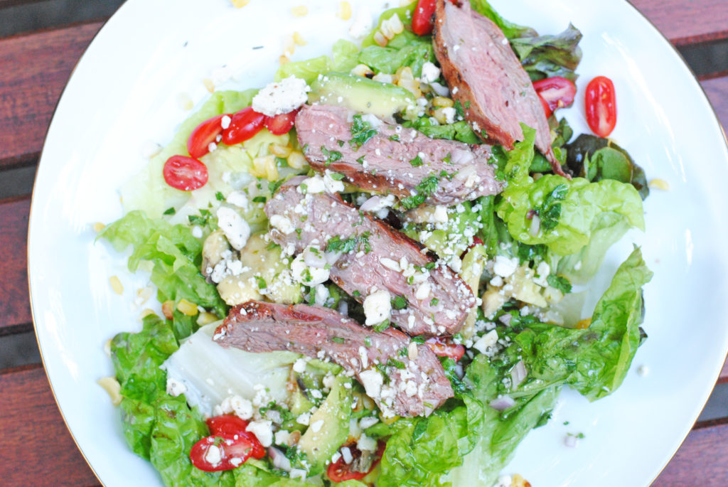 baja steak salad