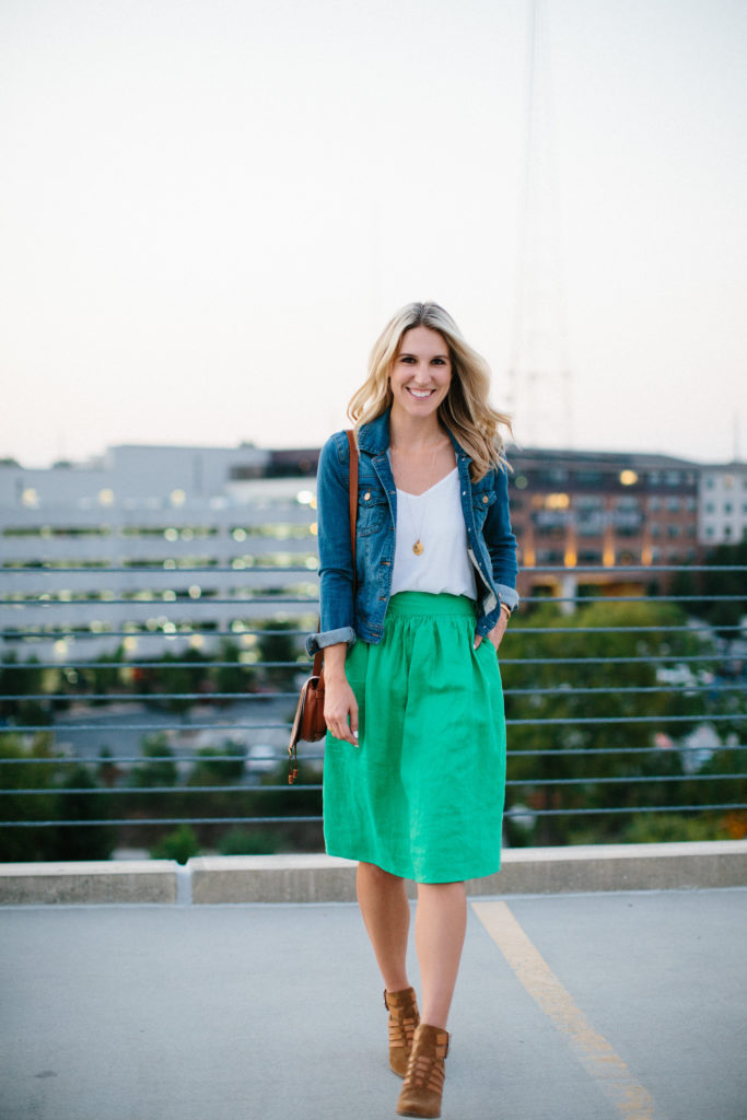 Styling a Midi Skirt
