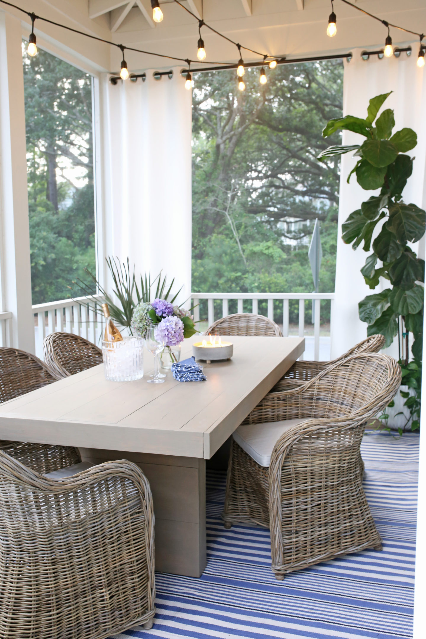 Screened Porch Wicker Furniture