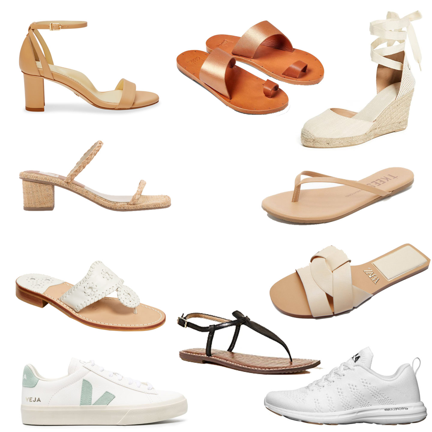 Capsule Wardrobe Summer Shoes / Turquoise and Teale